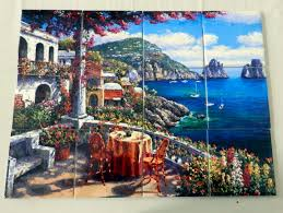 capri morning tile mural digitally reproduced for tiles and