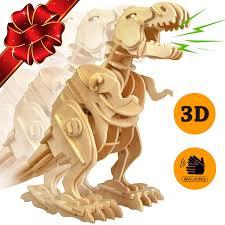amazon com toys sale trex dinosaur 3d puzzle walking wooden