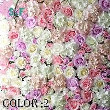 wedding backdrop flower wall online shop 2pcs lot free shipping artificial flower wall wedding