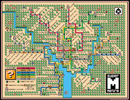 Ny Metro Map Famous Subway Maps Reimagined As Vintage Super Mario Brothers
