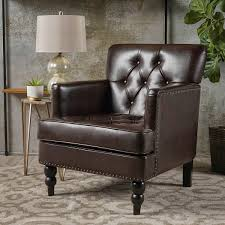 Leather Club Chair Mckinley Bonded Leather Club Chair