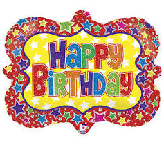 circus balloon circus picture frame bright bold happy birthday party mylar