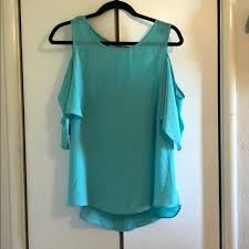 turquoise blouse 67 charming tops turquoise cold shoulder blouse