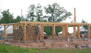 Small Home Construction Cordwood Cob Update House Construction Stacked Wood