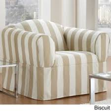 Stripe Slipcover Sure Fit Ticking Stripe Slipcover Collection Farm House Decor