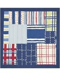 Square Wool Rug Surprise 20 Off Safavieh Handmade Children U0027s Matrix Blue New