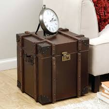 side table faux leather trunk coffee table id love a beat up old