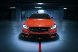 orange mercedes german special customs gives the cls 63 amg stealth an orange upgrade