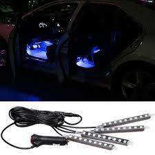 Car Interior Leds Aliexpress Com Buy 4x9led 12v Led Decorative Atmosphere Lights
