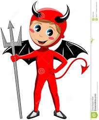 halloween kids background kid with halloween devil costume stock photo image 32001420