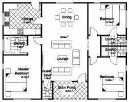 Small 3 Bedroom House by A Three Bedroom House Plan Three Bedroom Bungalow House Plans In