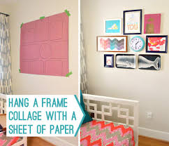 How To Hang A Picture How To Hang A Frame Collage With A Sheet Of Paper Young House Love