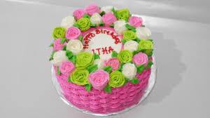 flower basket cake decoration youtube