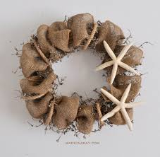 burlap wreaths starfish rope burlap wreath made in a day