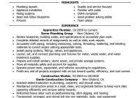 plumber resume resume cv cover leter
