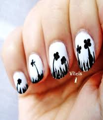 black and white bold nail art designs for your nails