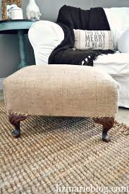 Recover Ottoman Recover A Flea Market Footstool With Sturdy Hemp Fabric