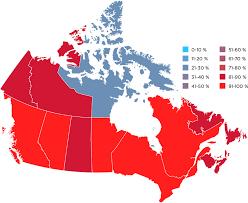 canadian map population distribution cira canadian registration authority factbook 2015