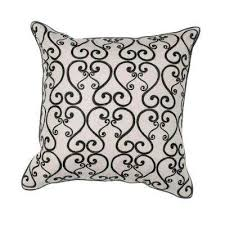 Black White Throw Pillows Home Accents The Home Depot