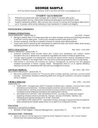 Sales Manager Resume Templates Finance Manager Resume Template Download Finance Manager Resume