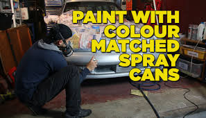 how to paint your car with colour matched spray cans youtube