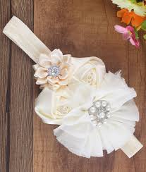 baby hairbands rosette satin flower headband bambino headbands