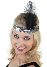 flapper headband silver and black flapper headband