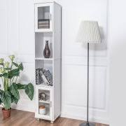 White Bathroom Linen Tower - linen towers