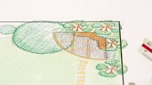 Backyard Plan Landscape Architect Design Backyard Plan For Villa Stock Footage