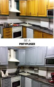 is it better to paint or spray kitchen cabinets how to spray paint kitchen units pintyplus
