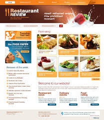 food templates free download restaurant reviews website template 29779