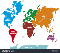 World Map Silhouette World Map Gold Continents Clipart