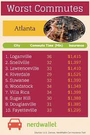 Map Of Atlanta Traffic by Worst Atlanta Traffic And Commutes