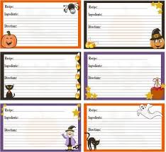free printable recipe cards to give with your trea