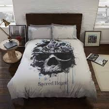 King Size Brushed Cotton Duvet Covers Buy Gothic Rebel Heart King Size Duvet Cover Free Delivery