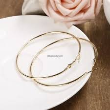 gold hoop earrings uk new big gold silver hoop earrings large gold hoops chic
