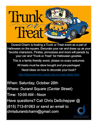 trunk or treat on the square u2013 durand charm