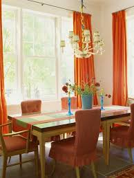 Bright Orange Curtains 15 Best Orange Dining Room Images On Pinterest Orange Dining