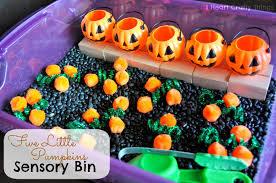 thanksgiving sensory bin five little pumpkins sensory bin i heart crafty things