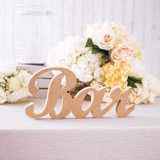 wedding signs and decor freestanding wooden bar sign for rustic
