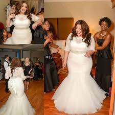 wedding dresses plus sizes 2016 vintage plus size mermaid wedding dresses with half sleeve