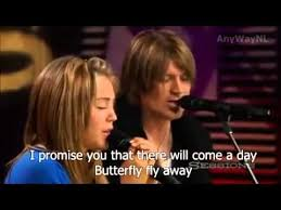 miley cyrus ft billy cyrus butterfly fly away lyrics in
