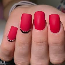 30 flaming ideas on red nails make a statement