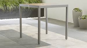 Crate And Barrel Dining Table Alfresco Natural Outdoor Pub Table Crate And Barrel