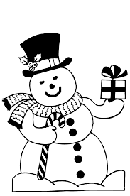 coloring page christmas snowman coloring pages 5