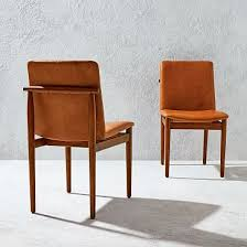 framework leather dining chair saddle west elm