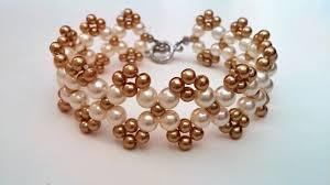 pearl beads bracelet images Easy beaded bracelet pattern how to make bracelet using 2 sizes jpg