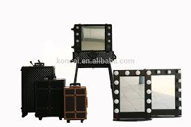 Rolling Makeup Case With Lights Professional Cosmetic Artist Train Makeup Case With Lights Drawers