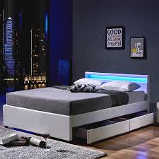 Schlafzimmer Bett Mit Schubladen Led Bett Nube Mit Schubladen 140 X 200 Weiß
