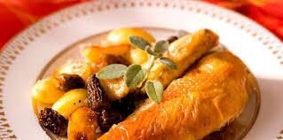 cuisiner la poularde poularde rôtie aux morilles facile recette sur cuisine actuelle